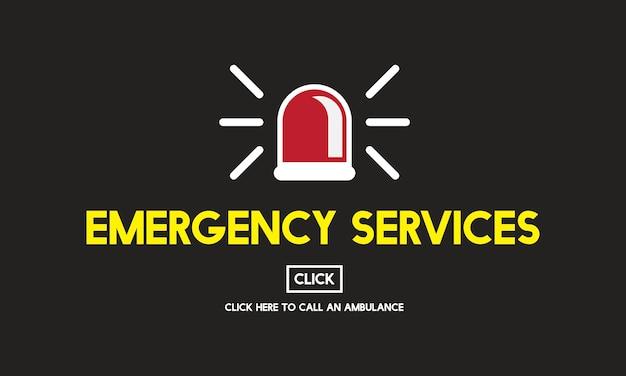 Ilustração, de, salvamento emergência Vetor grátis