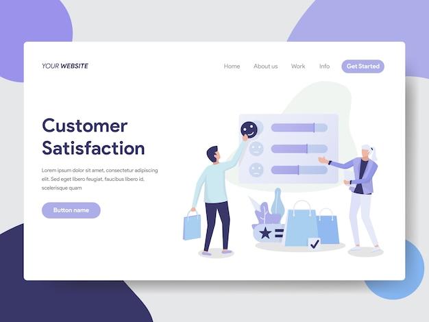 Ilustração de satisfação do cliente para a página do site Vetor Premium