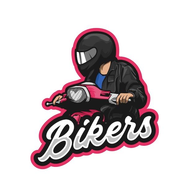 Ilustração de scooter de motociclistas premium Vetor Premium