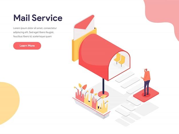 Ilustração de serviço de correio Vetor Premium