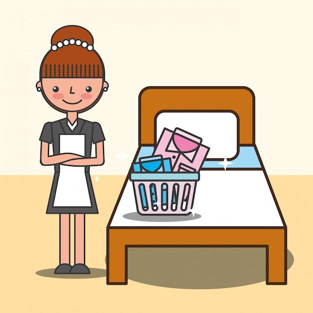 Ilustração de serviço de hotel de pessoas Vetor grátis