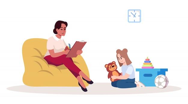 Ilustração de sessão de terapia infantil Vetor Premium