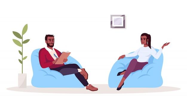 Ilustração de sessão de terapia Vetor Premium
