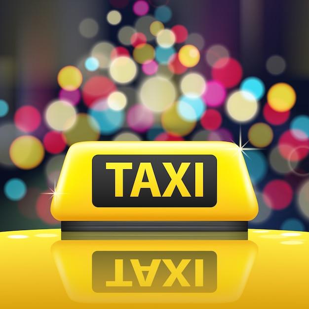 Ilustração de sinal de táxi Vetor grátis