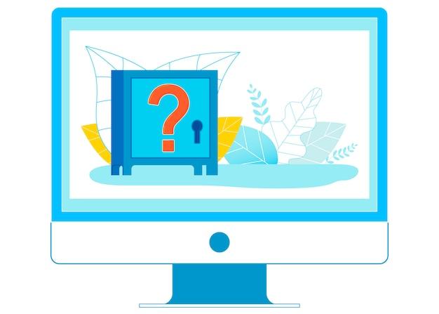 Ilustração de sistemas financeiros on-line questionável Vetor Premium