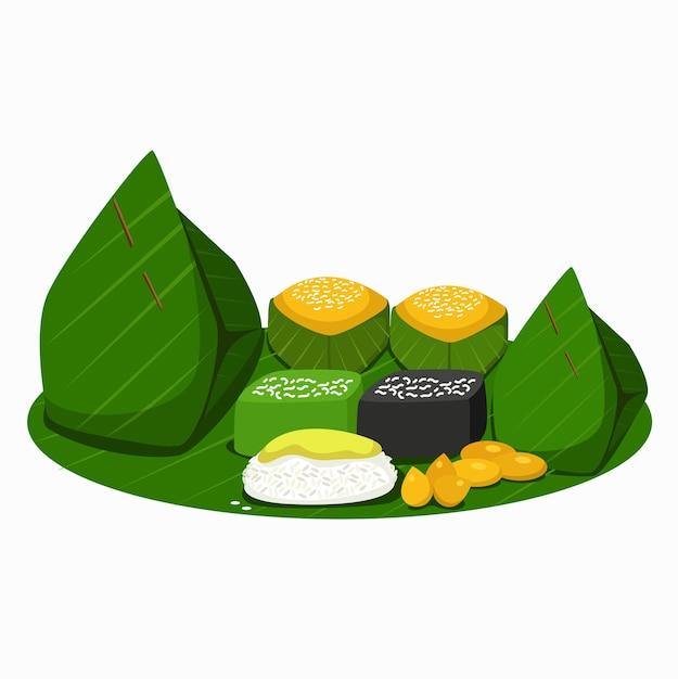 Ilustração de sobremesas tailandesas Vetor Premium