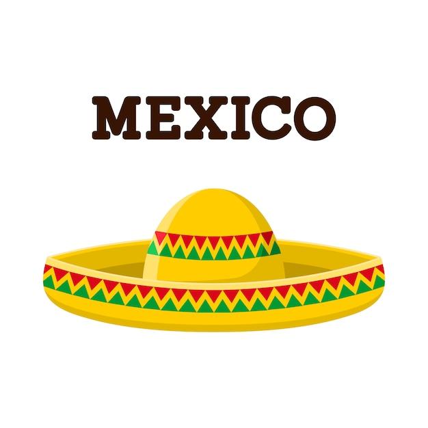 Ilustração de sombrero mexicano Vetor Premium