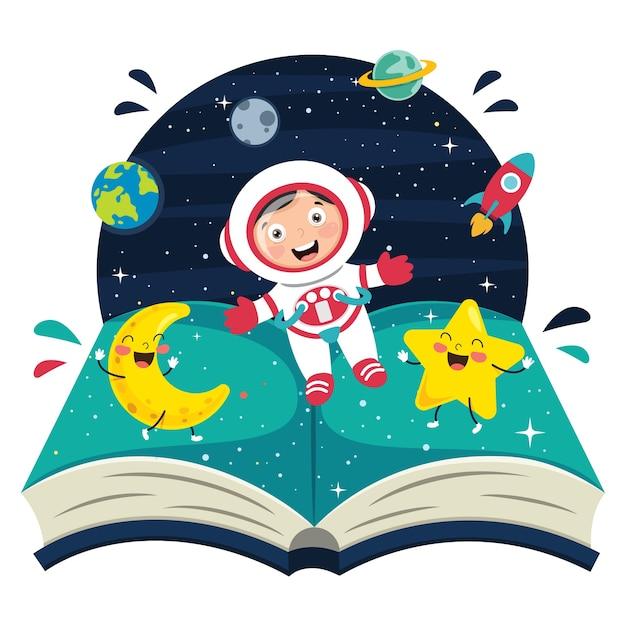 Ilustração de spaceman Vetor Premium