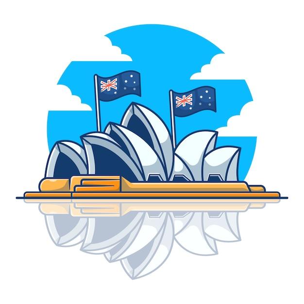 Ilustração de sydney opera house. Vetor Premium