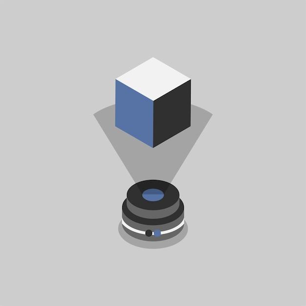 Ilustração de tecnologia holográfica Vetor grátis