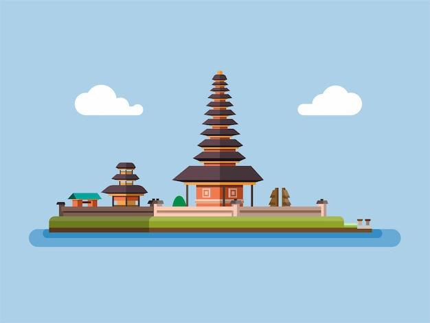 Ilustração de templo balinês Vetor Premium