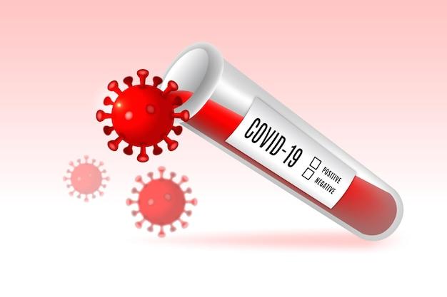 Ilustração de teste de sangue de coronavírus Vetor grátis