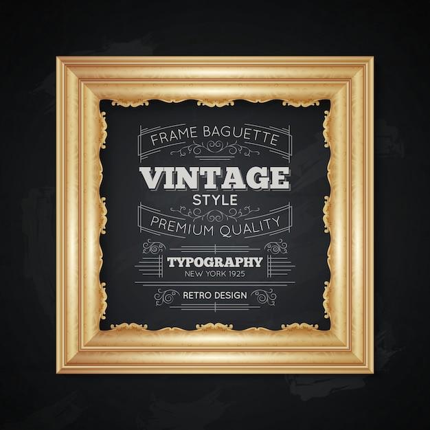 Ilustração de tipografia vintage frame Vetor grátis