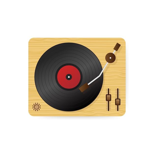 Ilustração de toca-discos de vinil Vetor Premium