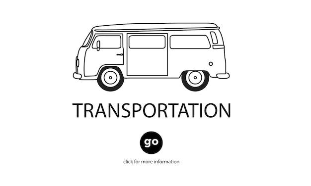 Ilustração, de, transporte Vetor grátis