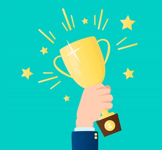 Ilustração de troféu vencedor Vetor Premium