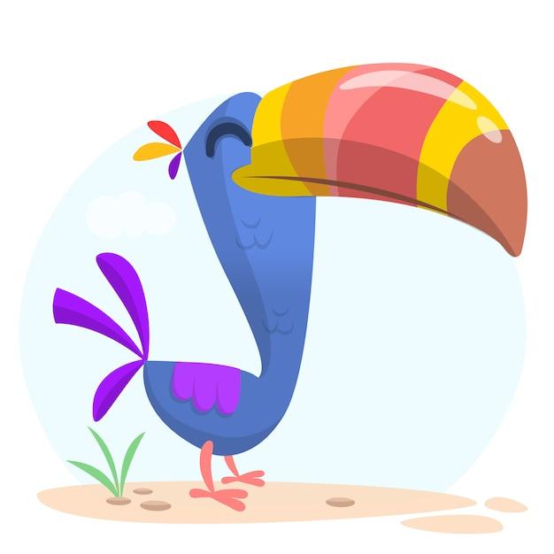 Ilustração de tucano engraçado dos desenhos animados Vetor Premium