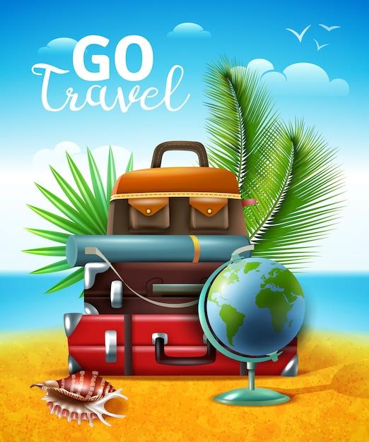 Ilustração de turismo tropical de viagem Vetor grátis