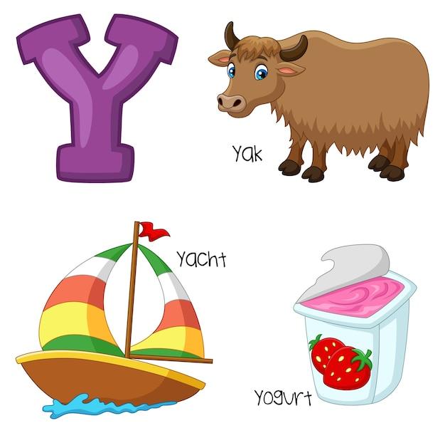 Ilustração de um alfabeto Vetor Premium