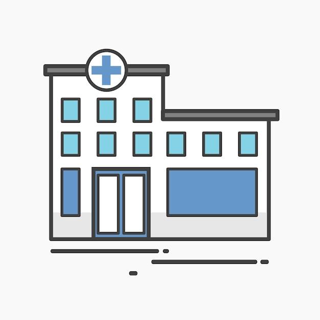 Ilustração de um hospital Vetor grátis