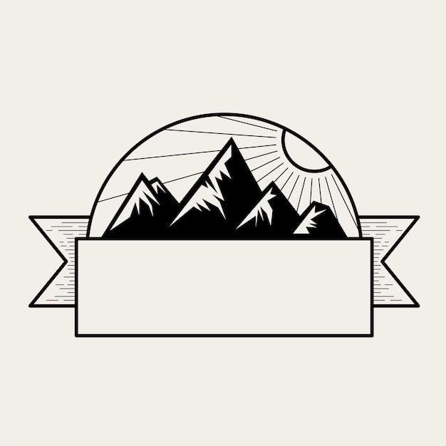 Ilustração, de, um, montanha Vetor grátis