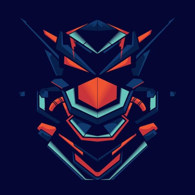 Ilustração, de, um, robô, lutador Vetor Premium