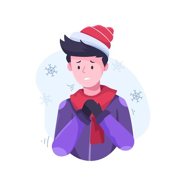 Ilustração de uma pessoa com um resfriado Vetor grátis