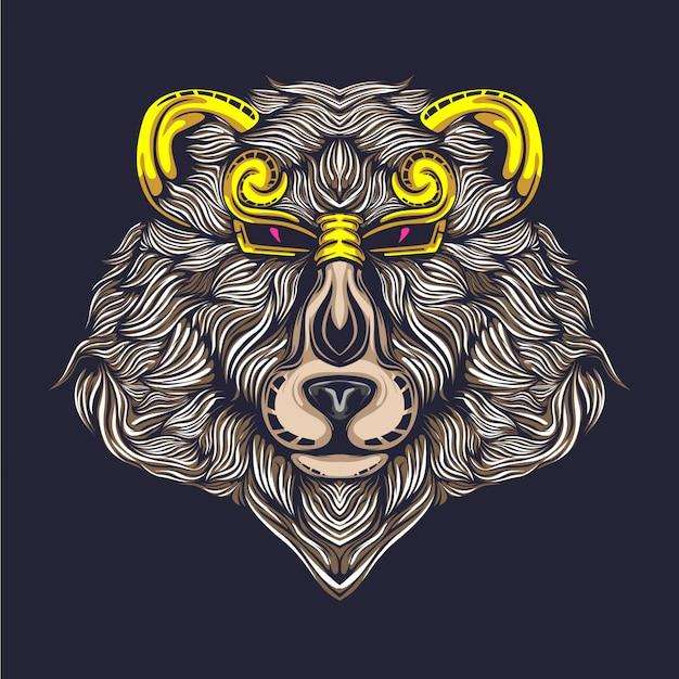Ilustração de urso Vetor Premium