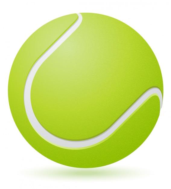 Ilustração de vetor de bola de tênis Vetor Premium