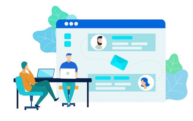 Ilustração de vetor de processo de desenvolvimento de software Vetor Premium