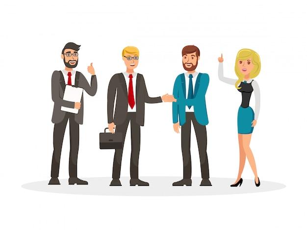 Ilustração de vetor de reunião de desenvolvimento de negócios Vetor Premium