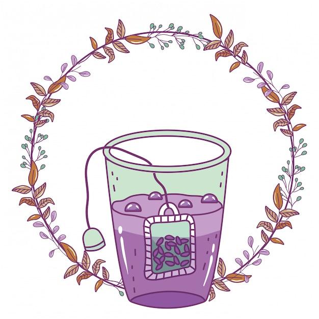 Ilustração de vidro de chá isolado Vetor Premium