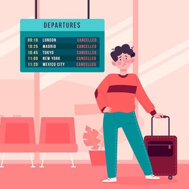 Ilustração de voo cancelado Vetor grátis