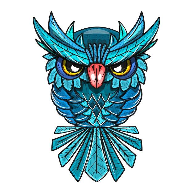 Ilustração decorativa de coruja Vetor Premium