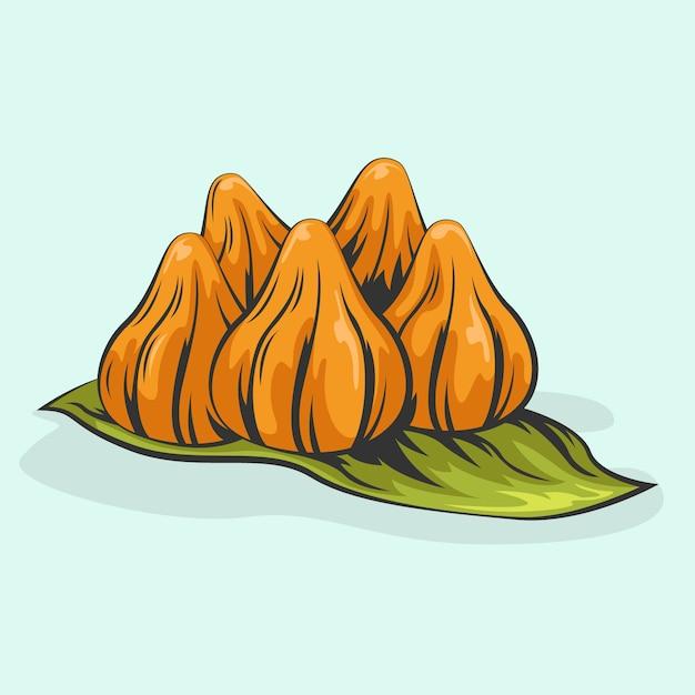 Ilustração desenhada à mão delicioso modak Vetor grátis