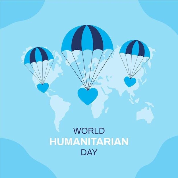 Ilustração design plano de evento do dia humanitário mundial Vetor grátis