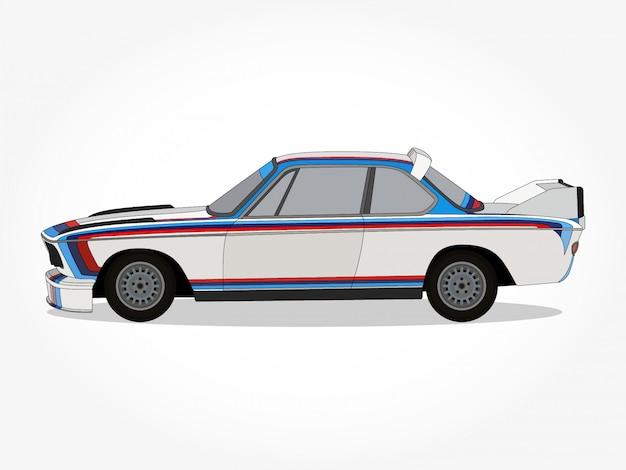 Ilustracao Detalhada Do Carro Dos Desenhos Animados Vetor Premium