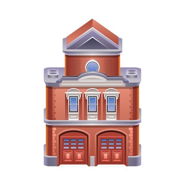 Ilustração detalhada do ícone do corpo de bombeiros. . Vetor Premium