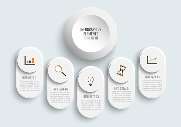 Ilustração digital abstrata infográfico. Vetor Premium