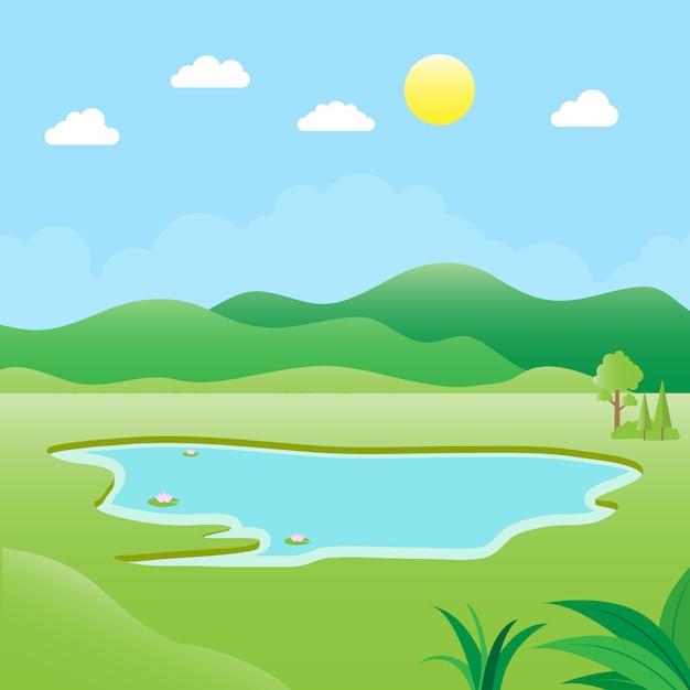 Ilustração do ambiente natural Vetor Premium