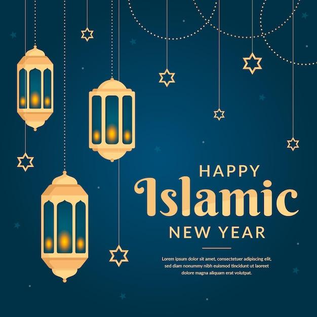 Ilustração do ano novo islâmico Vetor Premium