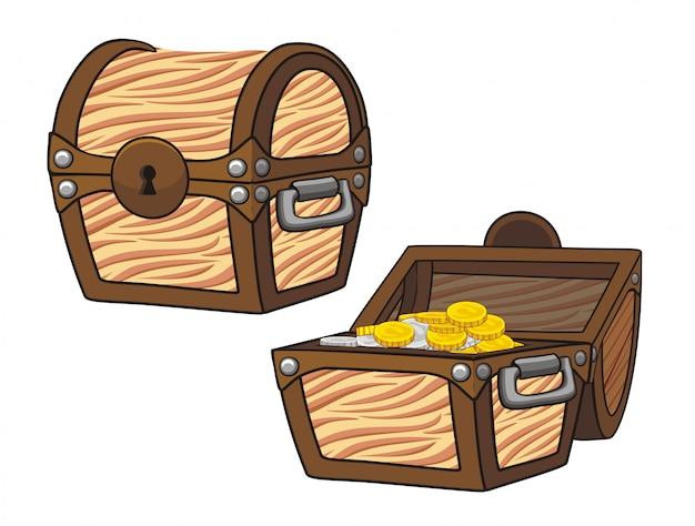Ilustração do baú do tesouro Vetor Premium