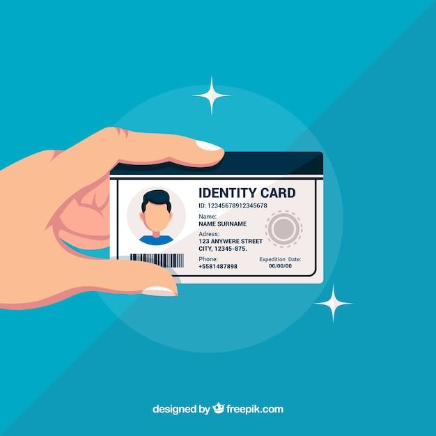 Ilustração do cartão de identificação Vetor grátis