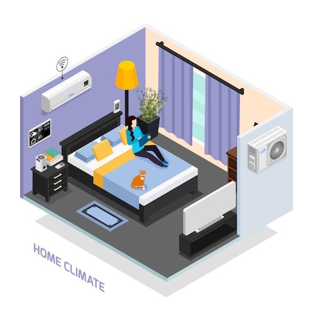 Ilustração do clima em casa Vetor grátis