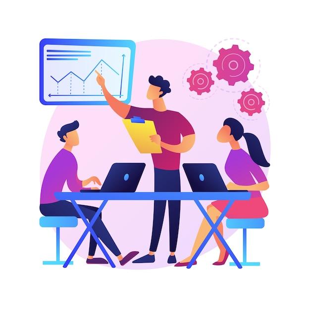 Ilustração do conceito abstrato de cultura no local de trabalho. valores compartilhados, sistemas de crenças, atitude no trabalho, equipe da empresa, cultura corporativa, alto desempenho, saúde dos funcionários. Vetor grátis
