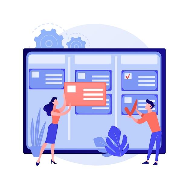 Ilustração do conceito abstrato de gerenciamento de tarefas Vetor grátis