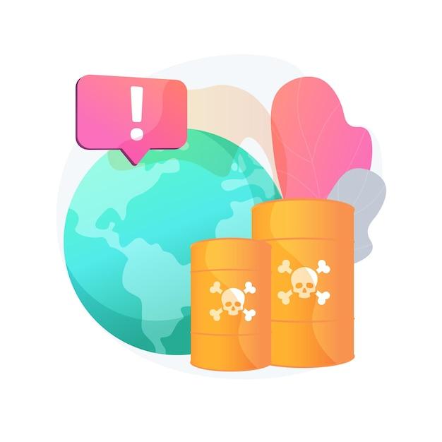 Ilustração do conceito abstrato de poluição química. produtos de resíduos perigosos, contaminação química de aterro, problema de poluição industrial, lixo perigoso e tóxico Vetor grátis