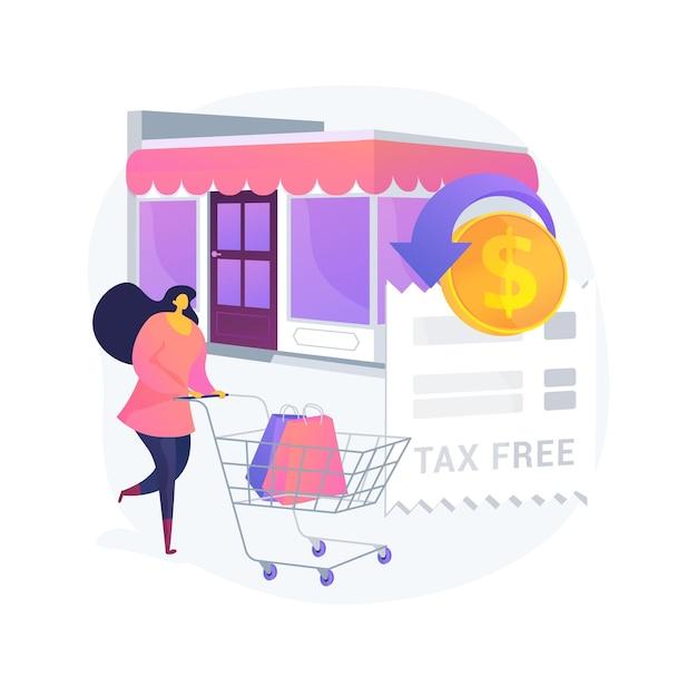 Ilustração do conceito abstrato de serviço isento de impostos Vetor grátis
