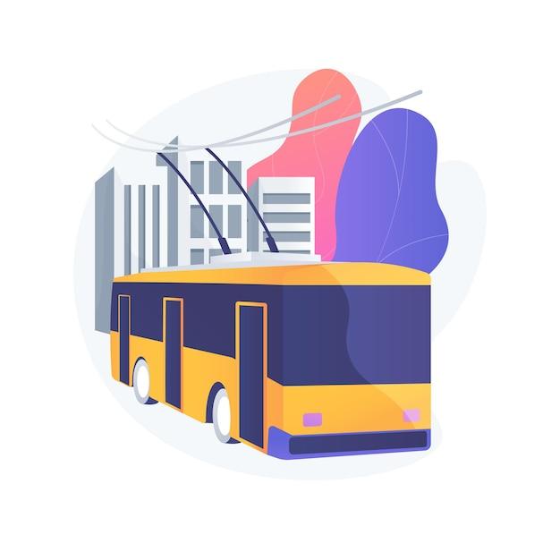 Ilustração do conceito abstrato de transporte público Vetor grátis
