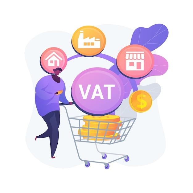 Ilustração do conceito abstrato do sistema de imposto de valor agregado Vetor grátis